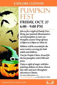 Join us for a night of amily fun in downtown Clinton.  For more information visit, www.clintonguild.com, or call 908-735-4020.